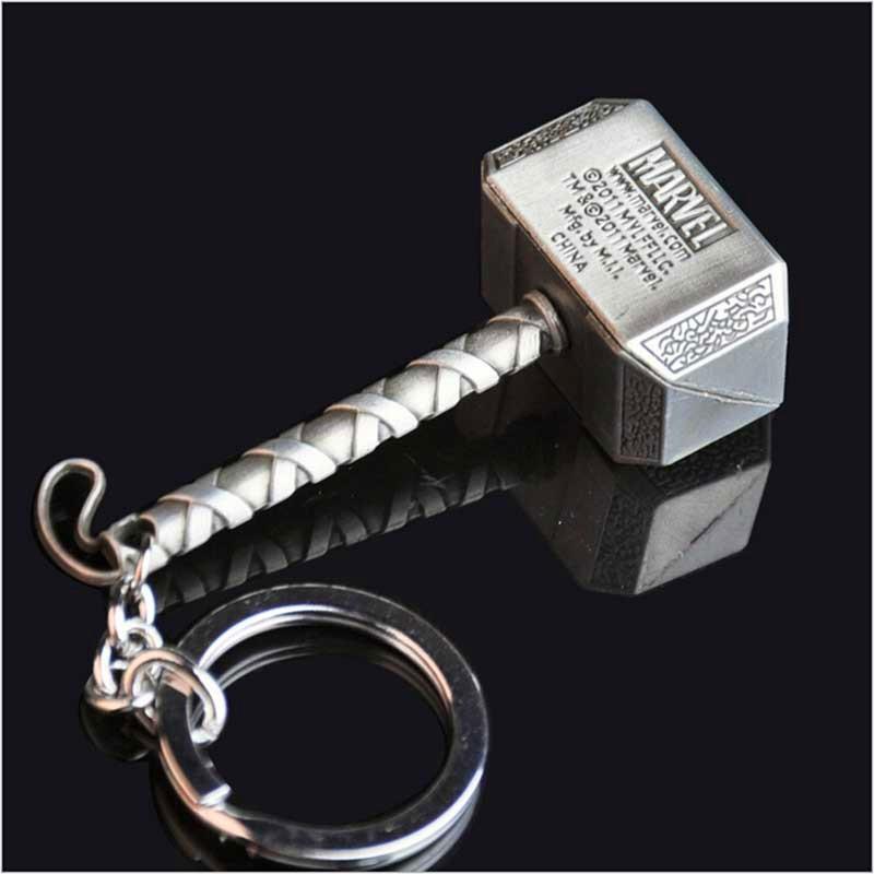 Marvel The Avengers Thor Thor/'s Hammer Mjolnir Pewter Metal Key ring Key Chain