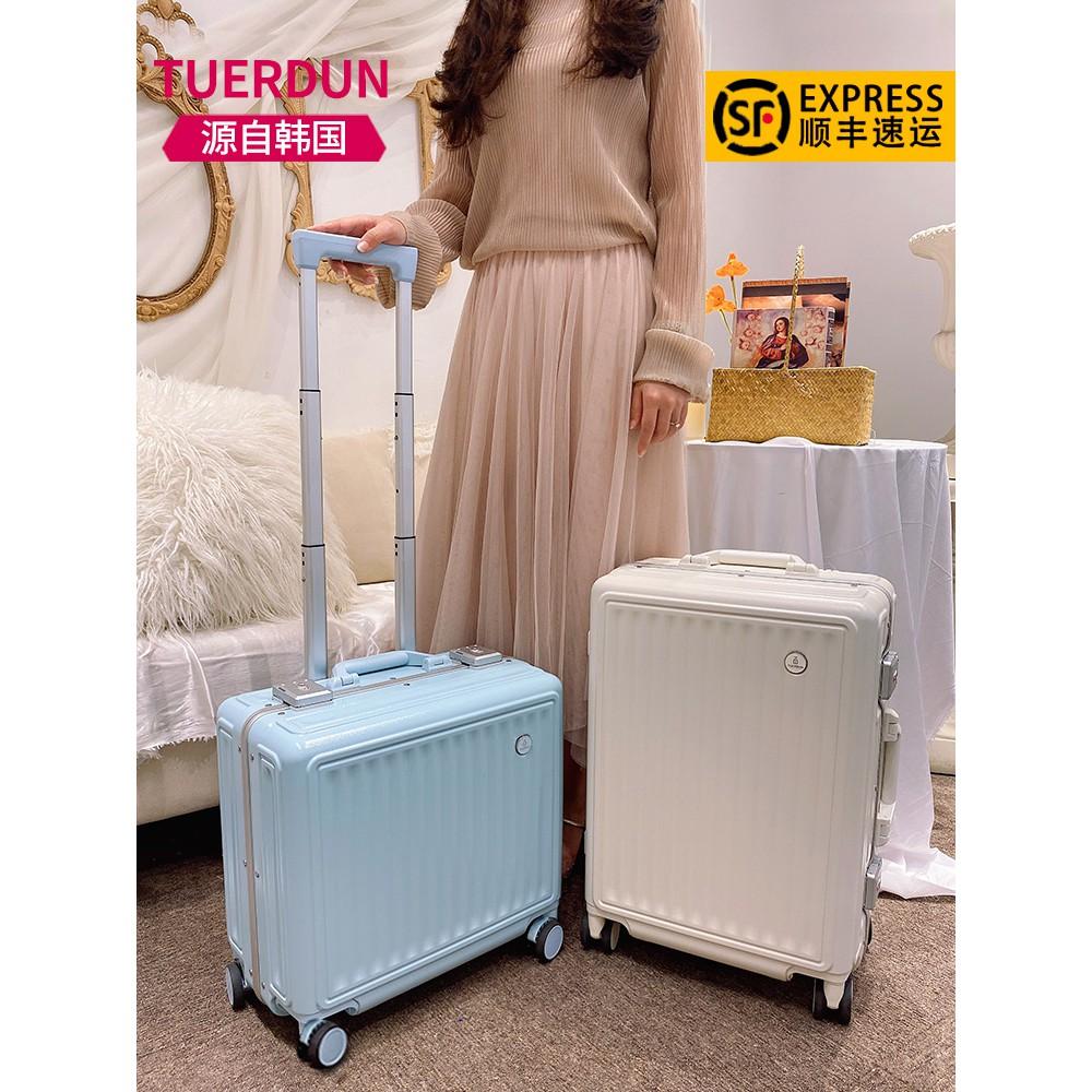 กระเป๋าเดินทางผู้หญิงใบเล็ก20นิ้วน้ำหนักเบารถเข็นกล่องรหัสผ่านกล่องกระเป๋าเดินทางทนทาน18นิ้ว
