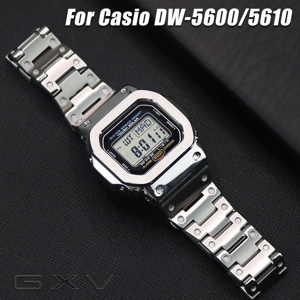 สายนาฬิกาข้อมือสแตนเลส 316 L สําหรับ Casio G - Shock Dw - 5600 Gw - 5600 Dw 5000 / 5035