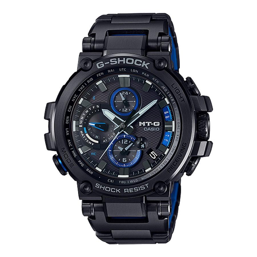 Casio G-Shock นาฬิกาข้อมือผู้ชาย สายสแตนเลส รุ่น MTG-B1000,MTG-B1000BD,MTG-B1000BD-1A - สีดำ