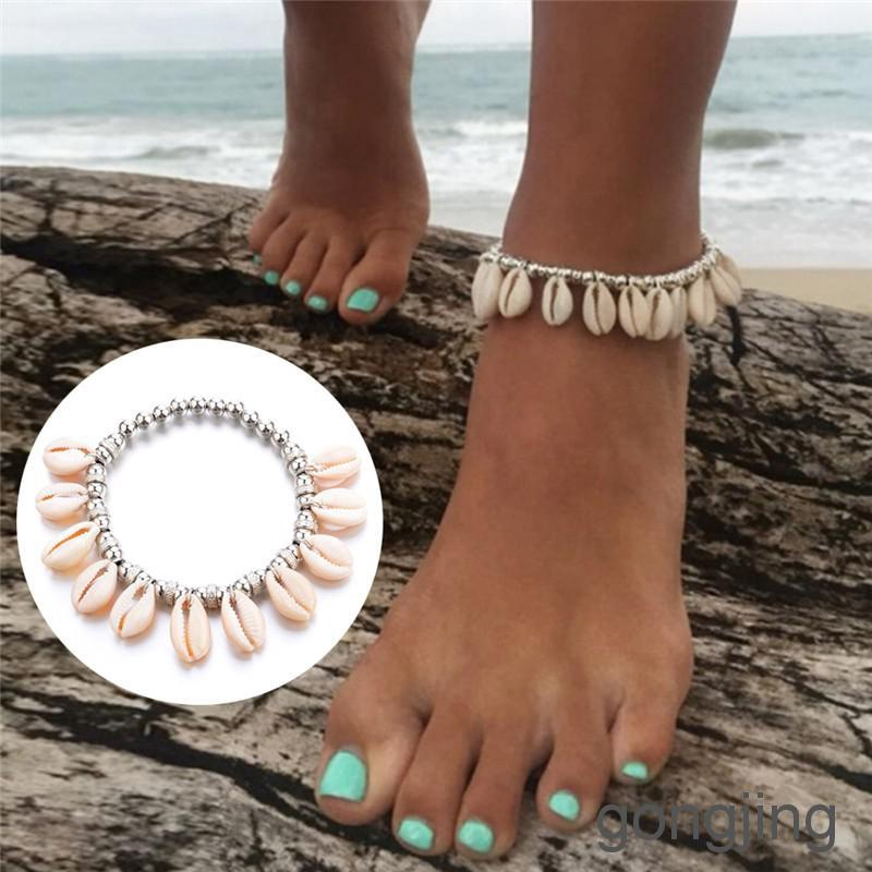 Boho Bead Shell Barefoot Sandal Beach Anklets Foot Chain Jewelry Ankle Bracelet