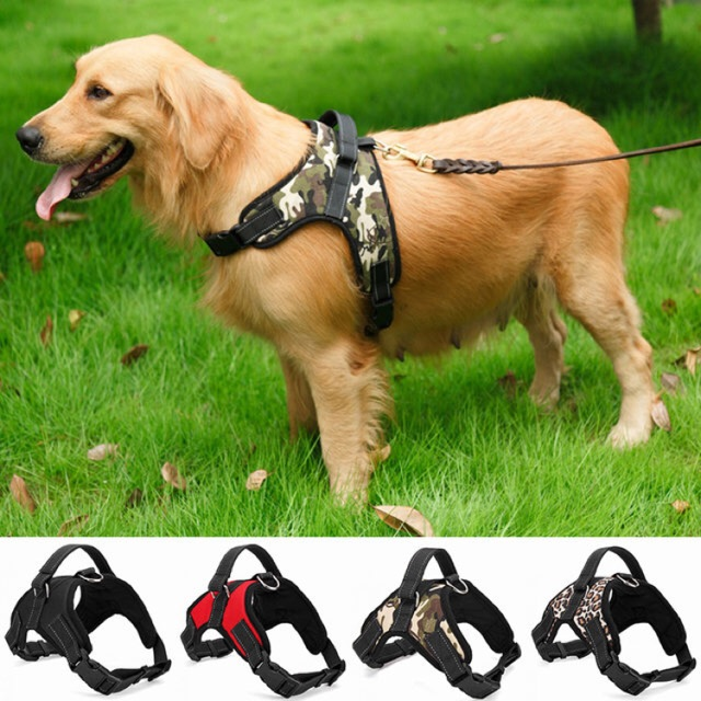 Dog Harness Nylon Dogs Harnesses Vest with Bling Rhinestone Bowknot Pet Supplies