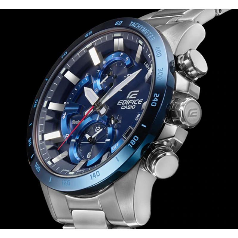 Casio Edifice นาฬิกาข้อมือผู้ชาย สายสแตนเลส รุ่น EQB-900DB,EQB-900DB-2A,EQB-900DB-2ADR - สีเงิน WpNH