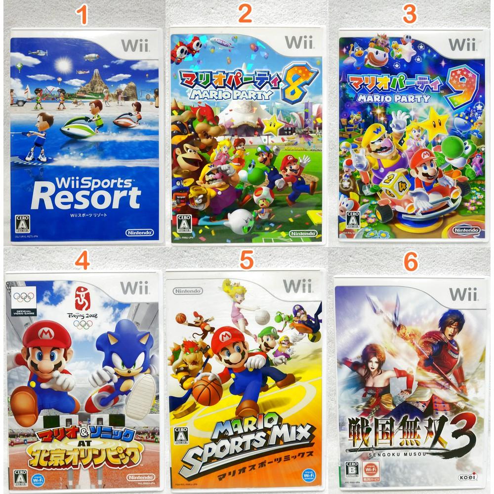 เกม Wii แผ่นแท้ โซนญี่ปุ่น / Original Japan Wii Games (set 2)