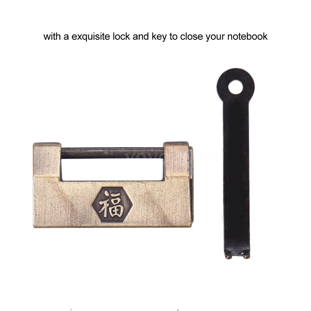 Handmade Leather Stainless Steel Pen Holder Clip Journal Notebook Paper Folder