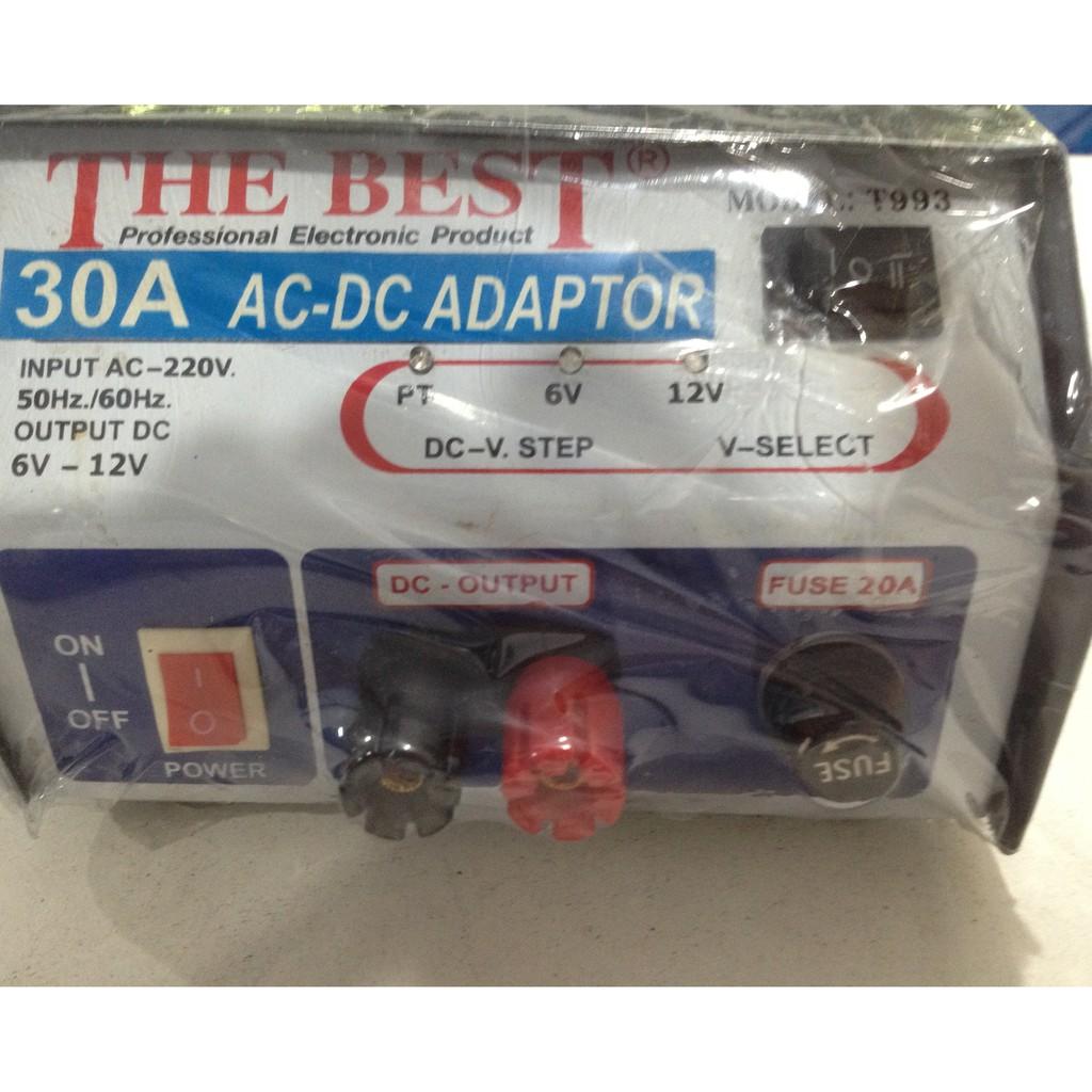 อแดปเตอร์ เครื่องแปลงไฟ AC-DC THE BEST 30A AC-DC Adapter input AC 220 V output DC 6-12 V 30A แปลงไฟกระแสสลับเป็นกระแสตรง