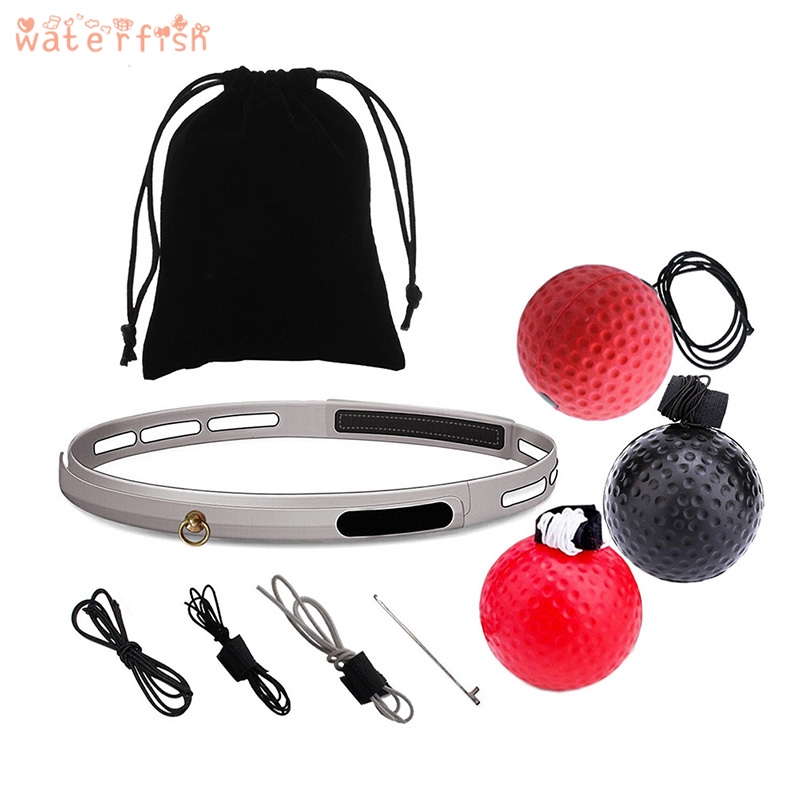 Boxing Reflex Training With Ball Fighting Speed Reaction Exercises Head Band MMA