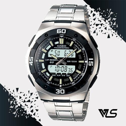 Casio นาฬิกาข้อมือผู้ชาย สายสแตนเลส รุ่น AQ-164WD-1AVDF - Silver s5VA
