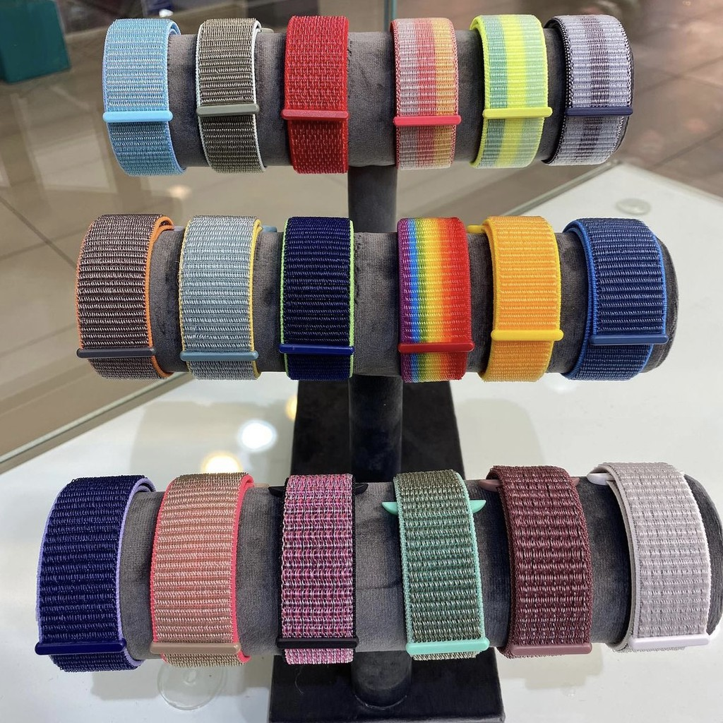 [ Factory ] Apple Watch Band Series 6 SE 5 4 3 2 1 Nylon Breathable Strap 40mm 44mm 38mm 42mm Sport Nylon band