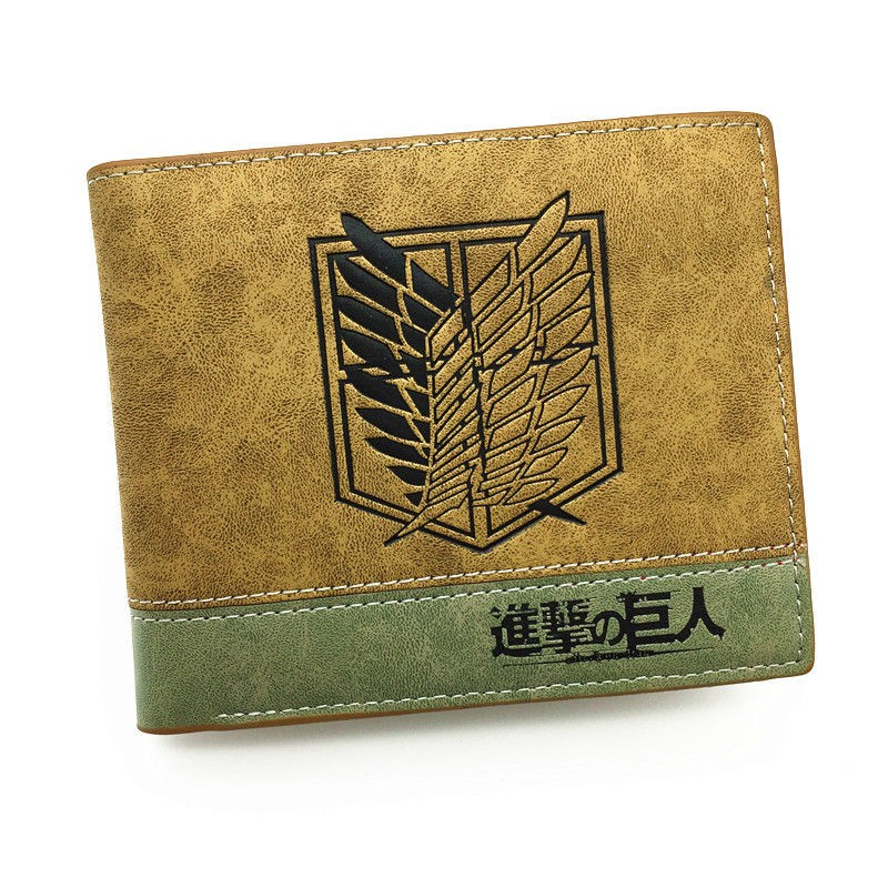 Hot Japanese Anime Death Note / Attack on Titan One Piece Game Short Wallet With Coin Pocket Zipper Poucht Billetera