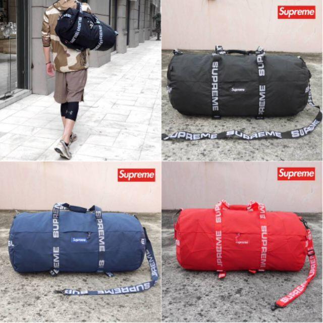 💛กระเป๋าเดินทาง💜 supreme large duffle bag ss18