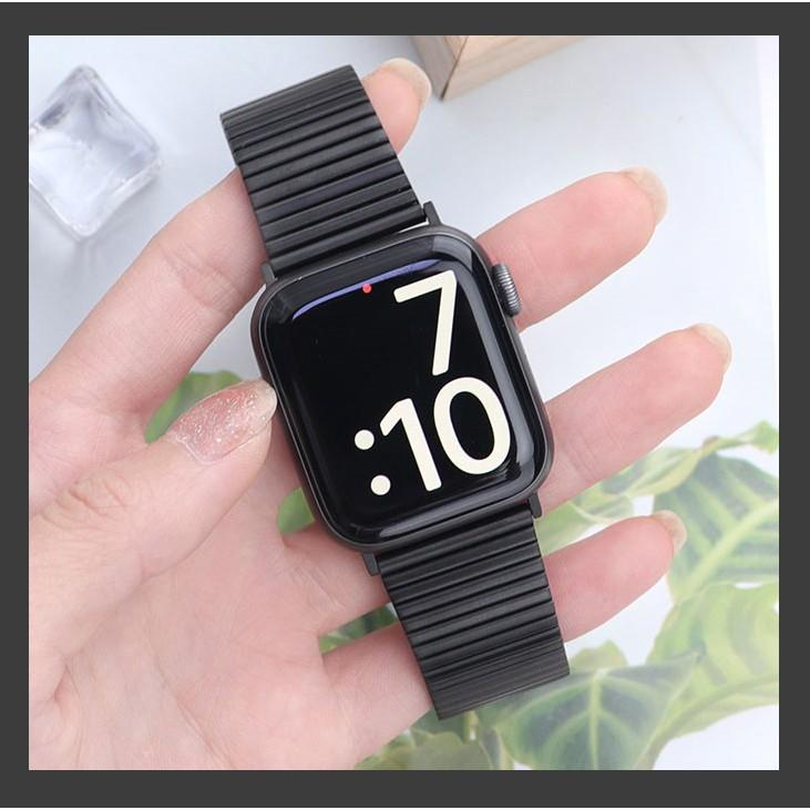 eS9Z สาย Applewatch เหล็กกล้า สายนาฬิกา Apple watch Series 6 5 4 3 2 1,Apple Watch SE Strap Stainless Steel band Apple W