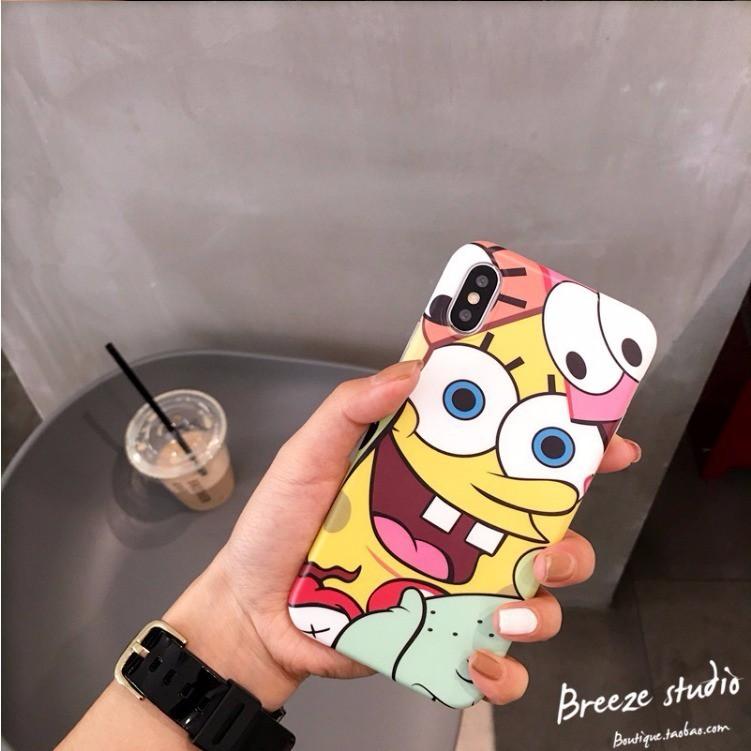 (พร้อมส่ง)◎﹍㍿ins SpongeBob Samsung a8s โทรศัพท์มือถือ case a6s รวมทุกอย่าง a9s anti-drop c9pro/c8/c7 soft s7edge female