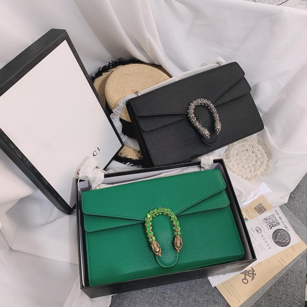 Gucci Dionysus Dionysus Shoulder Bag Crystal Diamond Buckle Tiger Head Shoulder Bag Messenger Bag Counter Cow Leather Ma
