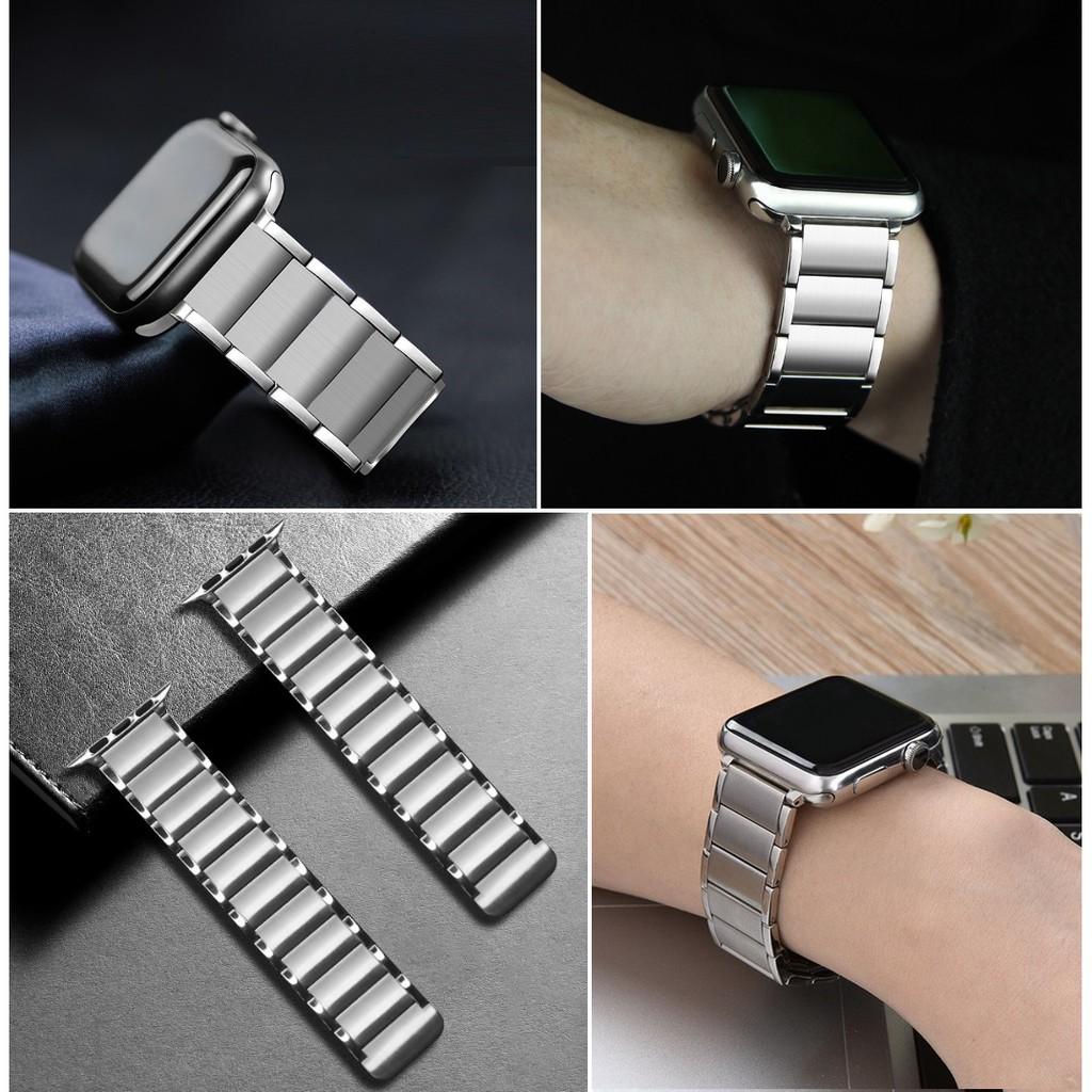QYCh ใหม่ ฟุ่มเฟือย สาย Applewatch เหล็กกล้าไร้สนิม แม่เหล็ก สายนาฬิกา Apple watch Series 6 5 4 3 2 1,Apple Watch SE Str