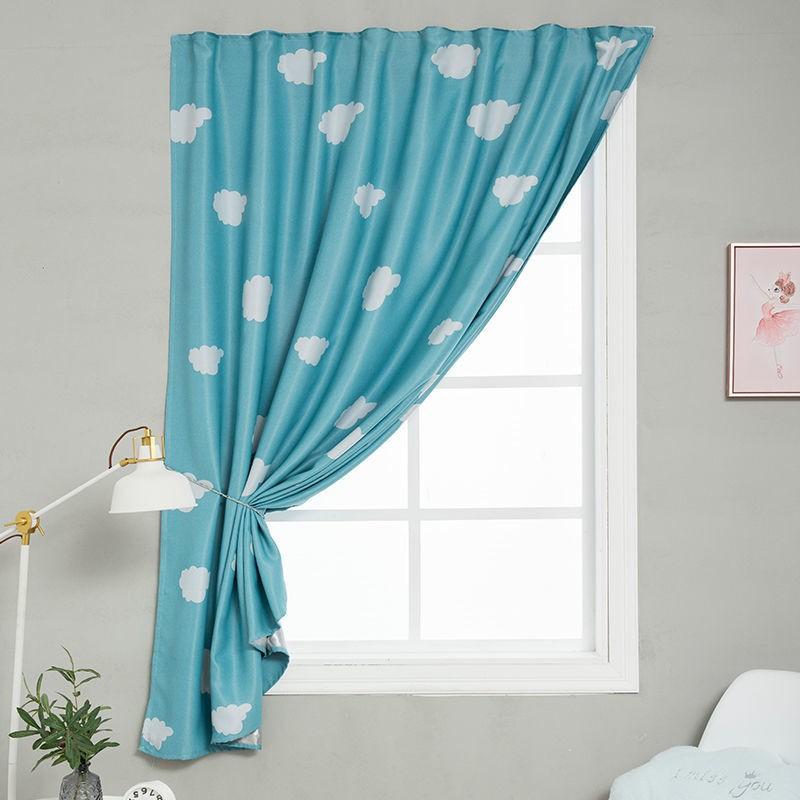 🌹🍀เฉพาะจุด # ไม่ต้องเจาะผ้าม่านแบบตีนตุ๊กแกห้องนั่งเล่นห้องนอนม่านทึบเมฆผ้าสำเร็จรูป