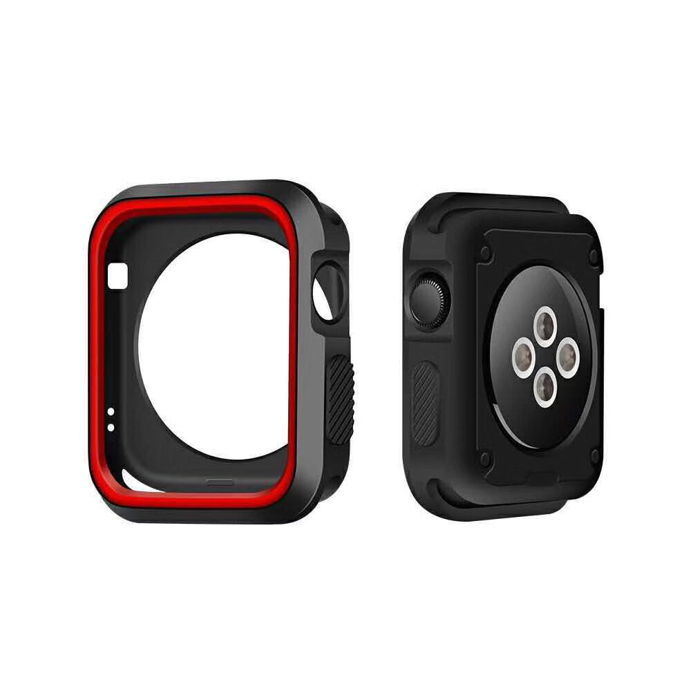 Silicone Bumper for Apple Watch 6 SE 5 4 case 44mm 40mm case soft Protector cover for iwatch 3 2 1 Accessories Xuvp