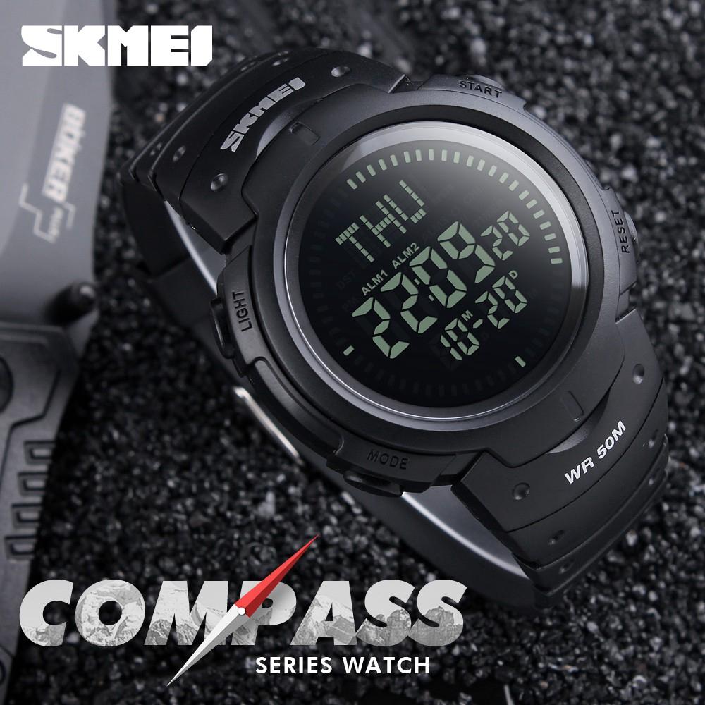 นาฬิกา SKMEI Sports Compass Waterproof Men's Digital Watch 1231