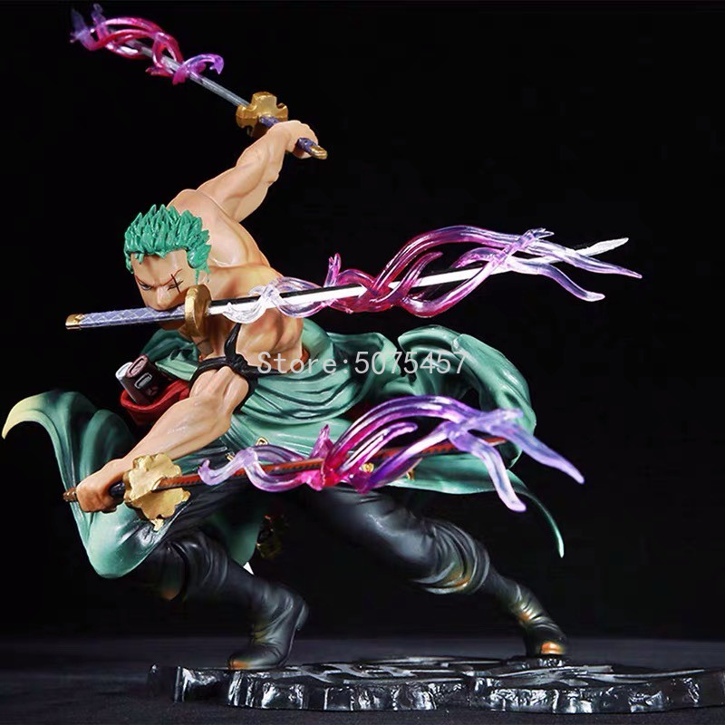 18cm One iece Anime Figure New World Roronoa Zoro Straw Hat Classic Battle Action Figure Roronoa Zoro Figurine Model Dol
