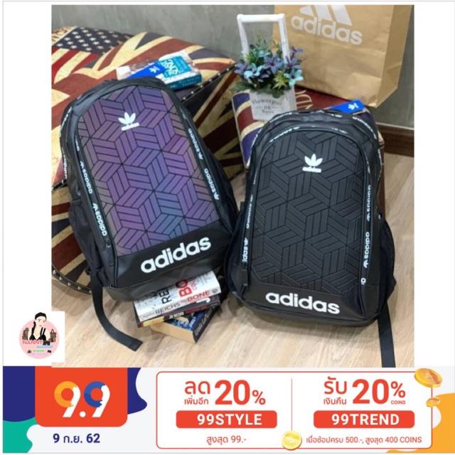 {แท้Outlet💯} Adidas Originals 3D Backpack กระเป๋าเป้สะพายหลัง พร้อมถุงซิปล็อคแบรนด์