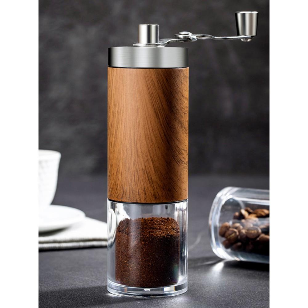 ☁✁❍เครื่องบดเมล็ดกาแฟ, เครื่องบดกาแฟแบบมือหมุน, ชุดบ้านกาแฟทำมือ, เครื่องบดย้อนยุคแบบพกพาขนาดเล็ก