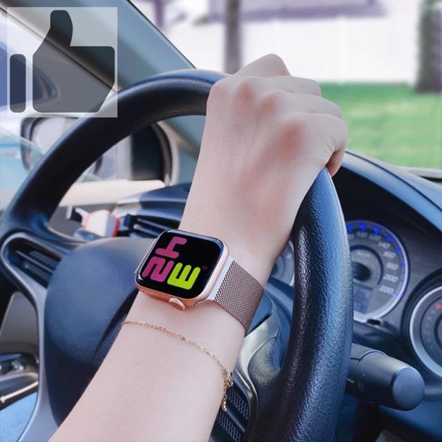 ❂❧สาย สำหรับ apple Watch Band Milanese Loop Series 1 2 3 4 5 6 44 มม 40 38 42 applewatch se 4.7