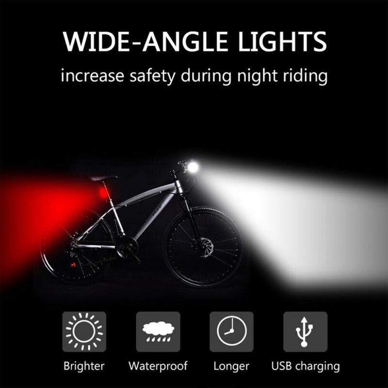 Safety Aluminum Alloy LED Cycling Bicycle Warning Lamp Flashing Bike Head Light