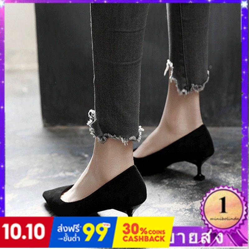 ⭐👠รองเท้าส้นสูง หัวแหลม ส้นเข็ม ใส่สบาย New Fshion รองเท้าคัชชูหัวแหลม  รองเท้าแฟชั่นรองเท้าผู้หญิงรองเท้าส้นสูงผู้หญิงก
