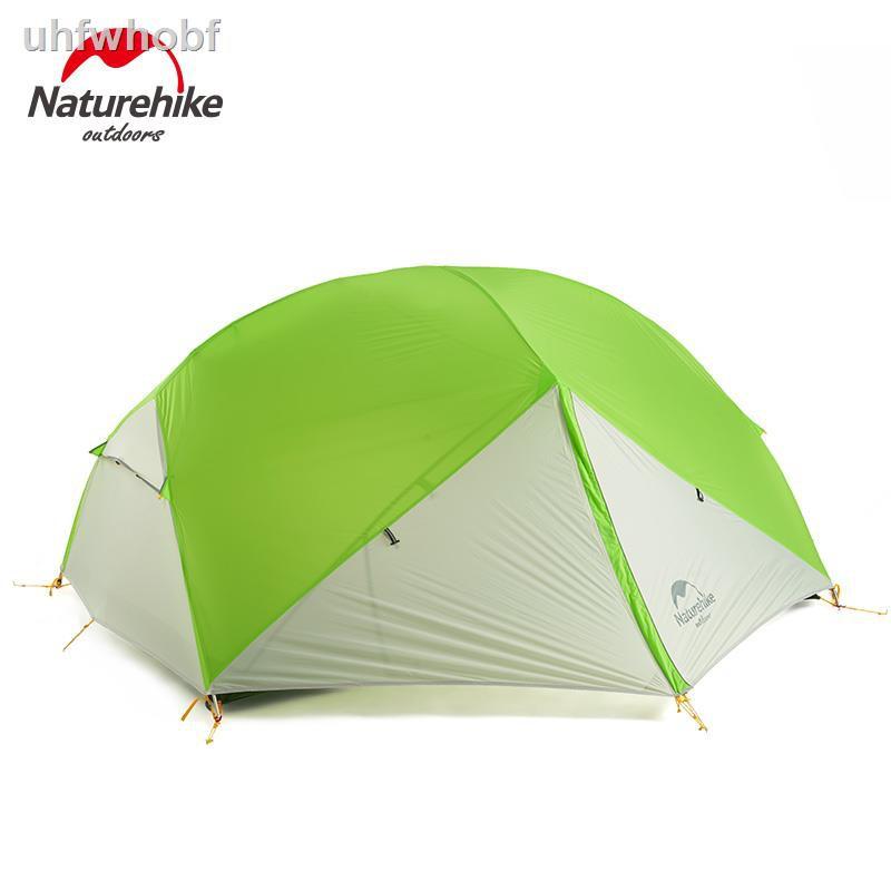เต็นท์❁Naturehike new Mongar 2 Person Ultralight Silicone Camping Tent Outdoor Best Hiking Hunting Mountaineering Camp T
