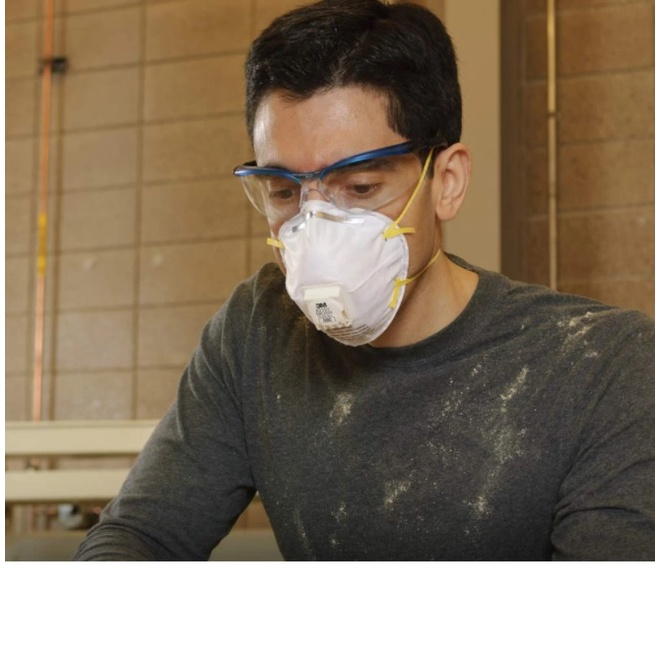 ❄3M 8210V N95 (กล่อง10ชิ้น) หน้ากากป้องกันฝุ่นชนิดมีวาล์ว Mask 3M Valved Respirator 8210 ของแท้ 100% ส่งฟรี!!1