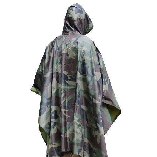 Outdoor Cycling raincoat Hooded Poncho Waterproof Camping Hiking Hunting Cape T