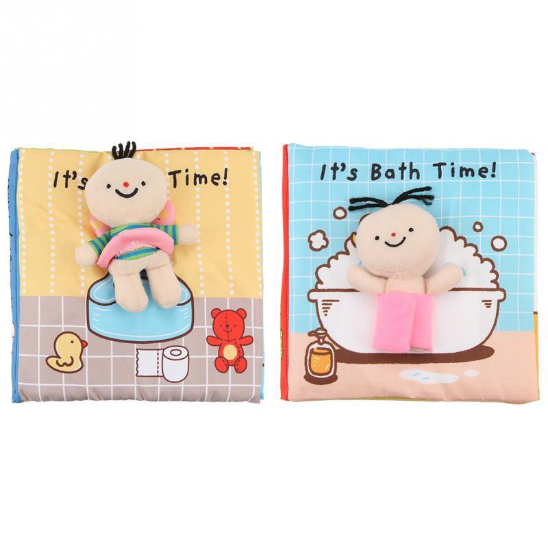 ของเล่นเด็กทารกCloth Books Soft Baby Books Rustle Sound Baby Quiet Books Infant Early Learning Educational Toys For 0 12