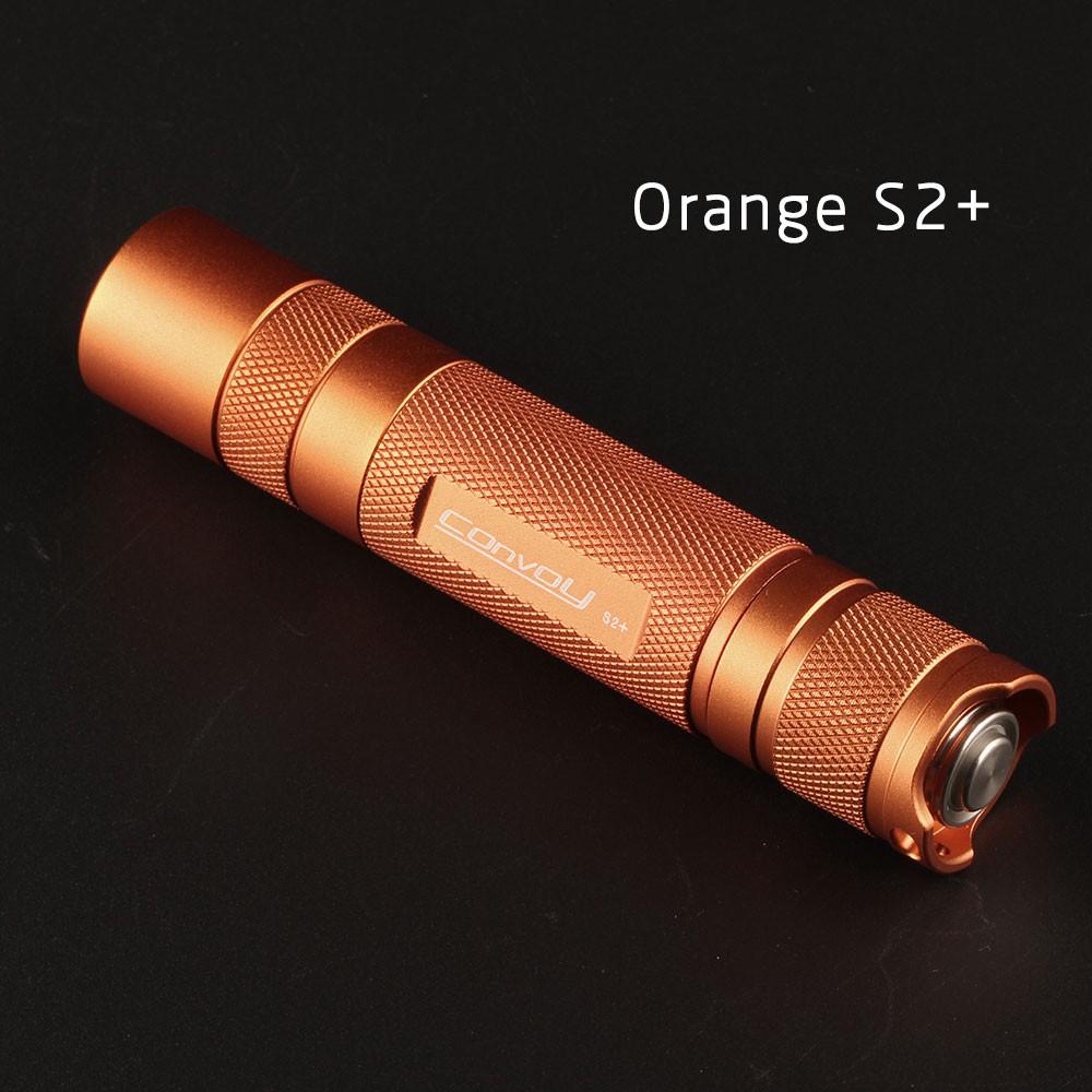 ไฟฉาย:Convoy S2+ Orange Cree XML2 U21A EDC LED Flashlight,torch,lantern,self defense,caming light, lam,for bicycle,ประภา