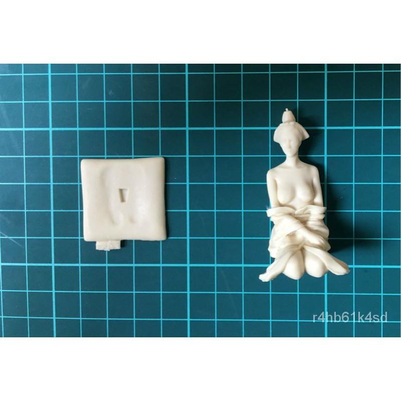 Resin Figure Kit Jaanese geisha girls Mutsuki Unainted Garage Resin Model Kit#¥%¥# knPw