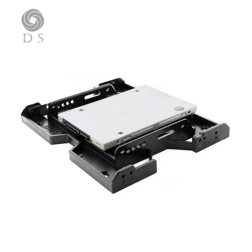 """Mounting Holder Bracket Double Useful HDD 2.5/"""" to 3.5/"""" SSD Hard Drive Adapter"""