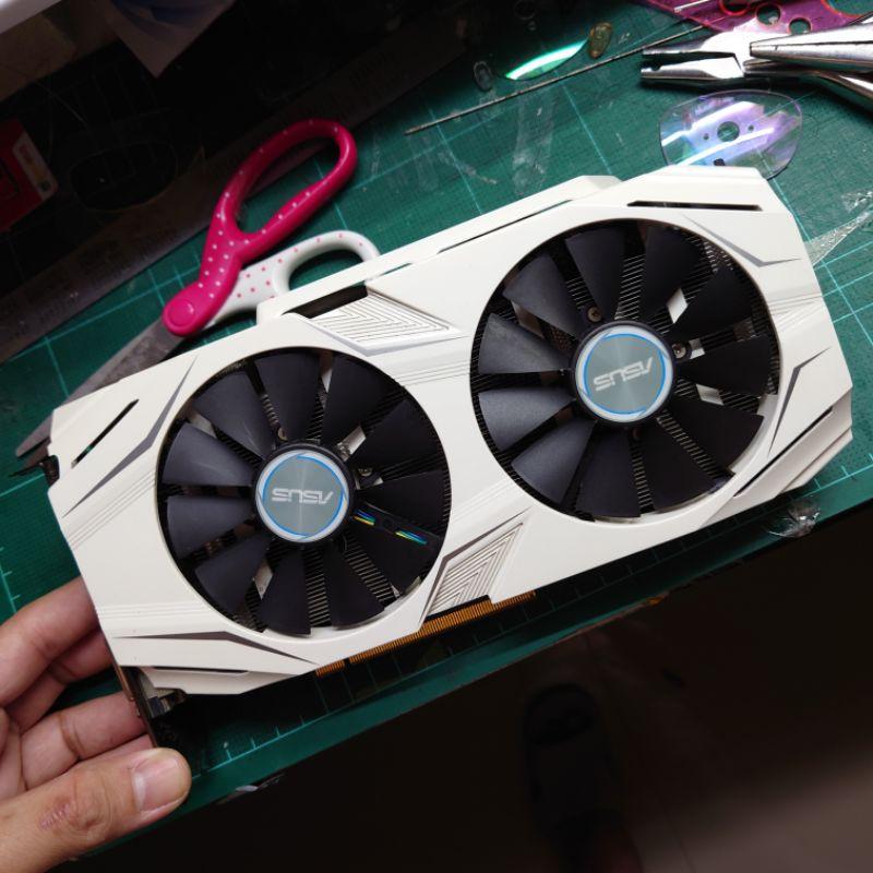 การ์ดจอ GTX 1060  OCNVIDIA มือสอง ครบกล่อง ASUS เสือขาว DUAL 3GB DDR5 เล่นได้ทุกเกม 3D MARK ผ่าน ขุดเหรียญขึ้นเล็กน้อย