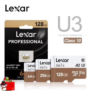 Lexar Professional Memory Card Up To 100MB/s Micro SD Card 667x C10 256GB TF Card 128GB Free Ad