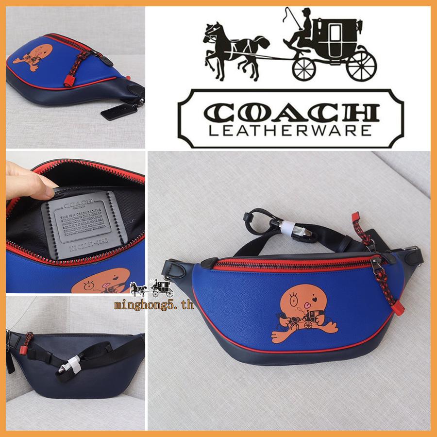 กระเป๋าผู้ชาย Coach กระเป๋าสะพายข้าง / F4592 กระเป๋าคาดเอวผู้ชาย / crossbody bag / กระเป๋าคาดอก / กระเป๋าหน้าอก / Messenger Bag