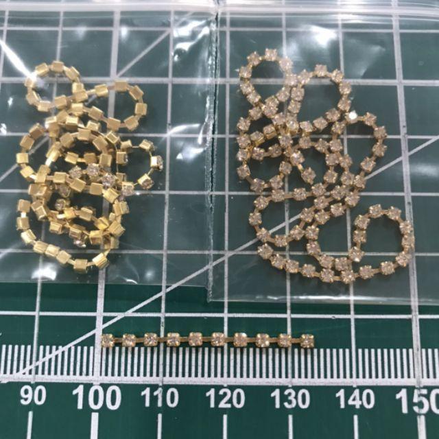 19พลอยเส้นขาวเพชรฐานทองขนาด 2มิล แบ่งขาย 30 ซม.ราคา 7บาท