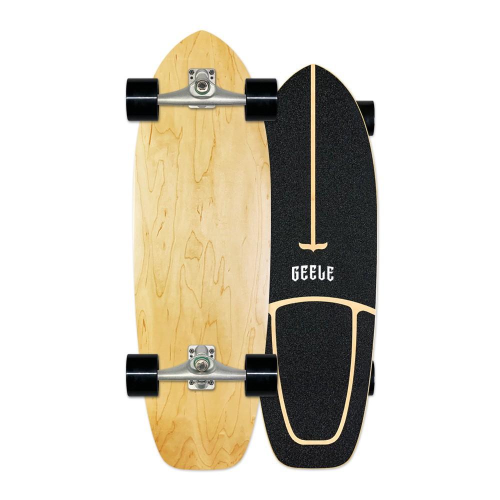 ♗Geeleสเก็ตบอร์ด Surfskate board carver เซิร์ฟสเก็ตสำหรับผู้เริ่มต้น ราคาเบาๆ ส่งเร็ว