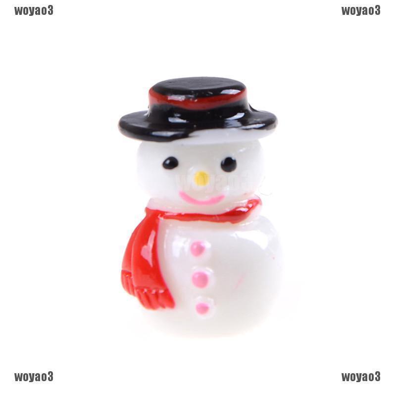 2pcs 1:12 Snowman Button+Green Gloves Christmas Dollhouse Home Miniature Decor