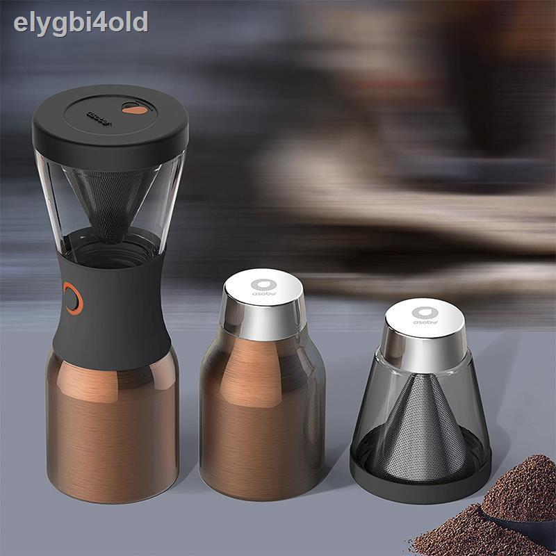 หม้อกาแฟASOBU Cold Brew ชงกาแฟเย็นแบบพกพา ชงเย็น เครื่องชงกาแฟแบบหยดน้ำแข็ง เครื่องทำน้ำแข็งชา เครื่องชงกาแฟ