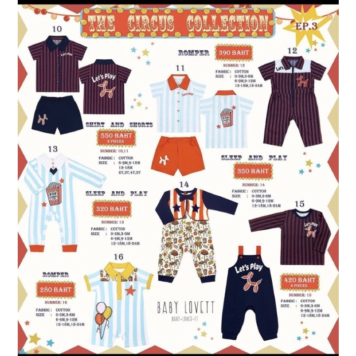 Baby Lovett the circus collection