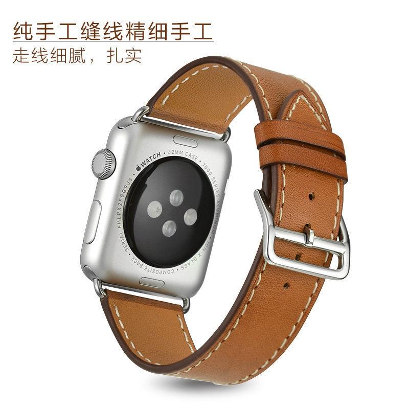 ※※ สายนาฬิกาข้อมือหนังแท้สําหรับ Applewatch 44 / 42mm / 40 / 38 Applewatch
