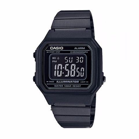 CASIO  นาฬิกาข้อมือสายสแตนเลส สีดำ รุ่น B650WB-1B vDfr