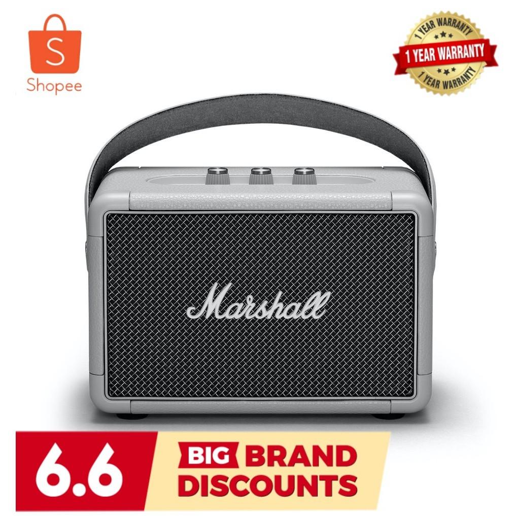 พร้อมส่ง Marshall Kilburn II (Gray) Portable Bluetooth Speaker สินค้ารับประกัน 1 ปี