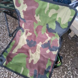 เก้าอีพับลายทหารเล็ก