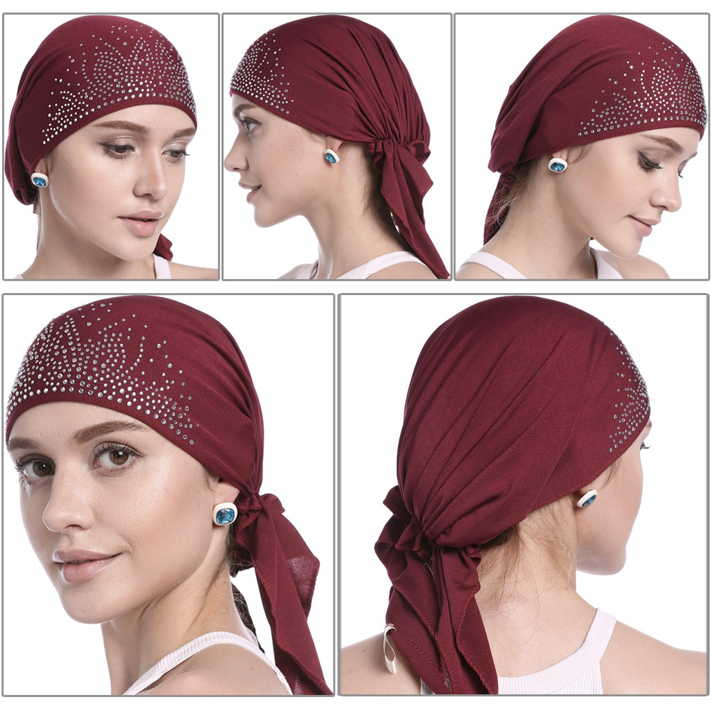 Fashion Cotton Muslim Women Lady Inner Hijab Cap Islamic Blend Headwear Hat Gift