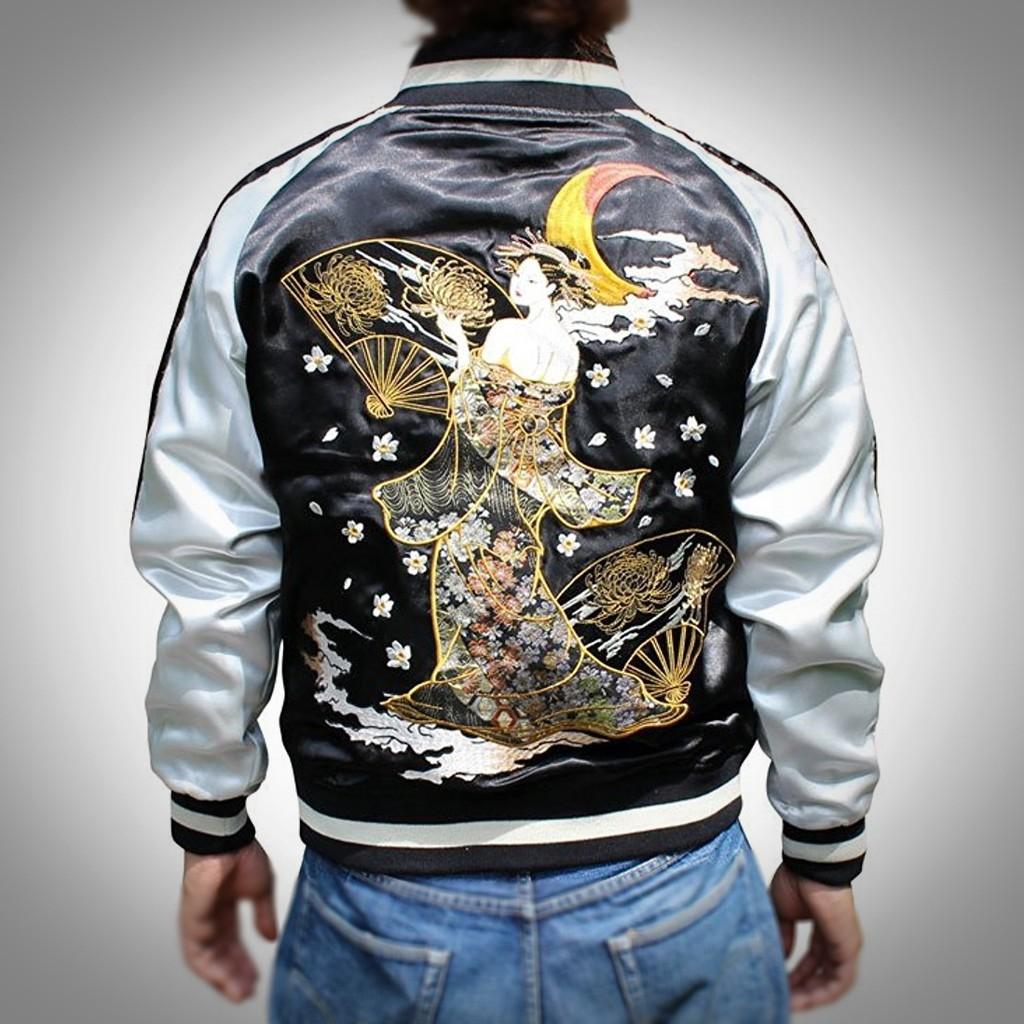 SUKAJAN พรีเมียมเกรด Japanese Souvenir Jacket  แจ็คเกตซูกาจันลาย  GEISHA