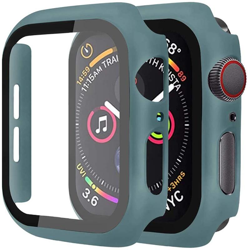 กระจก+ฝาครอบหน้าจอสําหรับ Apple Watch 44มม. 40มม. iWatch 42มม. 38มม. สําหรับ applewatch series 5 4 3 SE 6